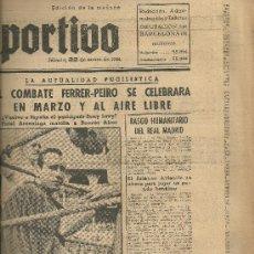 Coleccionismo deportivo: EL MUNDO DEPORTIVO Nº 6323 1944 BENY LEVY FIDEL ARCENIAGA BOXEO PEIRO. Lote 17858975