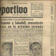 Coleccionismo deportivo: EL MUNDO DEPORTIVO Nº 6315 1944 RAICH VALLE SABADELL ESPAÑOL LUCHA LIBRE MARCO BERJAR SORIA SIMARRO. Lote 17859066