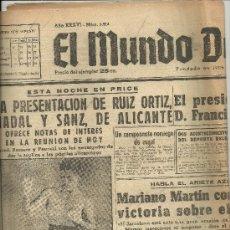 Coleccionismo deportivo: EL MUNDO DEPORTIVO Nº 6314 1944 ESTA NOCHE EN EL PRICE RUIZ ORTIZ NADAL Y SANZ DE ALICANTE ROMERO. Lote 17859119