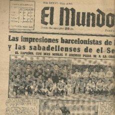 Coleccionismo deportivo: EL MUNDO DEPORTIVO Nº 6333 1944 BARCELONISTAS EN RIAZOR Y SABADELLENSES EN EL SEQUIOL. Lote 17859241