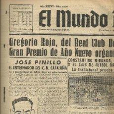 Coleccionismo deportivo: EL MUNDO DEPORTIVO Nº 6306 1944 ESPAÑOL ATLETICO AVIACION CARLES-BLANC SOBRE COCHET-GENTIEN TENIS. Lote 17859434