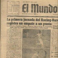 Coleccionismo deportivo: EL MUNDO DEPORTIVO Nº 6329 1944 COCHET BATIO A CASTELLA Y CARLES A GENTIEN TENIS. Lote 17859493