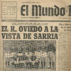Coleccionismo deportivo: EL MUNDO DEPORTIVO Nº 6328 1944 EL EQUIPO DEL OVIEDO. Lote 17859538