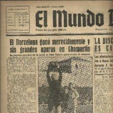 Coleccionismo deportivo: EL MUNDO DEPORTIVO Nº 6308 1944 BAÑON BLOCA UN TIRO Y MARTIN SIGUE ATENTO JUNTO A CORONA. Lote 17859982