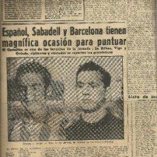 Coleccionismo deportivo: EL MUNDO DEPORTIVO Nº 6305 1944 GERMAN Y ACUÑA ASES DEL PARTIDO EN LAS CORTS Y SABADELL. Lote 17860043