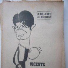 Coleccionismo deportivo: 40 DIAS, 40 ASES, 40 BIOGRAFIAS. MARCA, 1966. 8 PP. VICENTE PIERA.. Lote 18206332