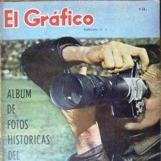 Collectionnisme sportif: EL GRAFICO ESPECIAL # 1 - ALBUM DE FOTOS HISTORICAS DEL DEPORTE ARGENTINO - AÑO 1961- 220 FOTOS. Lote 23237897