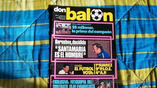 DON BALON-Nº85-1977-64PAG-SANTAMARIA (Coleccionismo Deportivo - Revistas y Periódicos - Don Balón)
