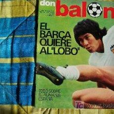 Coleccionismo deportivo: DON BALON-Nº80-1977-64PAG-EL BARCA QUIERE AL LOBO. Lote 18792920