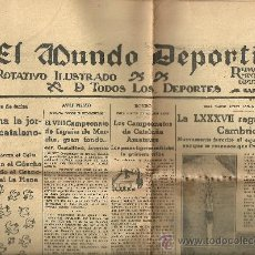 Collectionnisme sportif: MUNDO DEPORTIVO 1935 REGATA OXFORD CAMBRIDGE . Lote 19027580