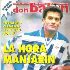 Coleccionismo deportivo: DON BALON Nº 1040 - MANJARIN / TOSHACK / CLEMENTE ** 1995. Lote 19076244