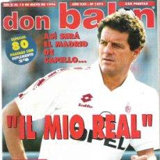 Coleccionismo deportivo: DON BALON - CAPELLO / EXCLUSIVA STOICHKOV / HERCULES / ESPECIAL 80 PAG **. Lote 19076995