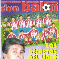 Coleccionismo deportivo: DON BALON Nº 1074 / ANTIC / ATLETICO MADRID / BUTRAGUEÑO / POSTER RACING **. Lote 19077117