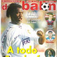 Coleccionismo deportivo: DON BALON Nº 1114 SEEDORF / BLANC / RENALDO / VAN GAAL **. Lote 19082661