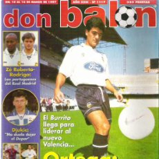 Coleccionismo deportivo: DON BALON Nº 1117 ORTEGA / DJUKIC / ZE ROBERTO / RODRIGO / VALLADOLID POSTER **. Lote 19082742