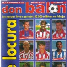 Coleccionismo deportivo: DON BALON Nº 1139 * FRAN / VALENCIA / ROERTO / EL ONCE DE LA LIGA 96 **. Lote 19082811