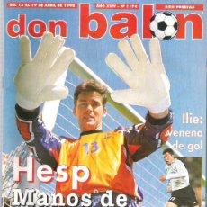 Coleccionismo deportivo: DON BALON Nº 1174 HESP / CELTA / COCU / ARENAL / VIERI POSTER / LENS **. Lote 19087815
