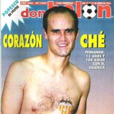 Coleccionismo deportivo: DON BALON Nº 1057 FENANDO VALENCIA / LIAÑO/ LAUDRUP **. Lote 19108190