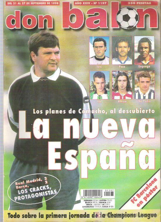 DON BALON Nº 1197 CAMACHO / CHAMPIONS LEAGUE /POSTER FC BARCELONA ** (Coleccionismo Deportivo - Revistas y Periódicos - Don Balón)