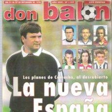 Coleccionismo deportivo: DON BALON Nº 1197 CAMACHO / CHAMPIONS LEAGUE /POSTER FC BARCELONA **. Lote 19108669