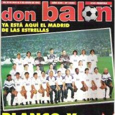 Coleccionismo deportivo: DON BALON Nº 1085 REAL MADRID BLANCO Y RADIANTE / ESPECIAL ATLANTA 96 / BEJBL / KAVASEVIC ** BUENO. Lote 19113983