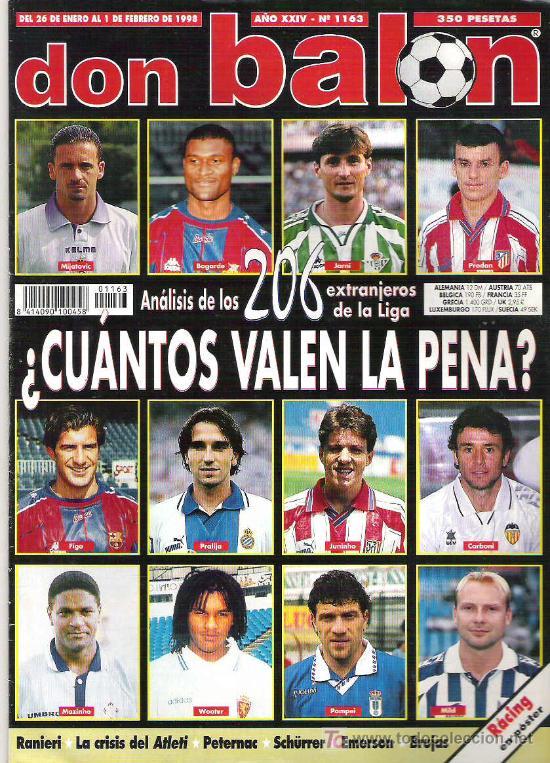 DON BALON Nº 1163 ANALISIS 206 EXTRANJEROS LIGA / POSTER RACING ** (Coleccionismo Deportivo - Revistas y Periódicos - Don Balón)