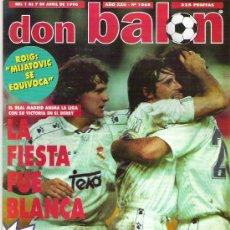 Coleccionismo deportivo: DON BALON Nº 1068 MIJATOVIC / BAYER DE MUNICH / PARIS SANT GERMAIN / SERGI **. Lote 19114046