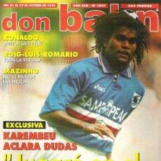 Coleccionismo deportivo: DON BALON Nº 1097 REAL SOCIEDAD POSTER / KAREMBEU / RONALDO **. Lote 19114076