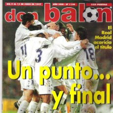 Coleccionismo deportivo: DON BALON Nº 1130 REAL MADRID / POYET / ESPECIAL COPA AMERICA / JUANELE **. Lote 19114229