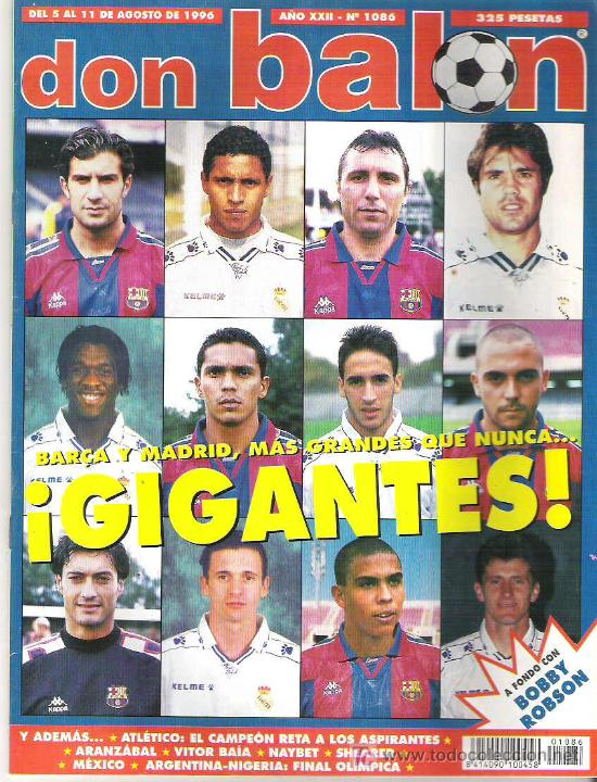 DON BALON Nº 1086 BOBBY ROBSON / ATLETICO CAMPEON / ARANZABAL / SHEARER ** (Coleccionismo Deportivo - Revistas y Periódicos - Don Balón)
