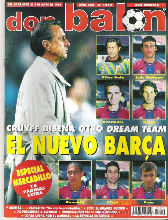 DON BALON Nº 1072 NUEVO DREAM TEAM LUIS ENRIQUE / GIGGS / OVERMARS / CAMACHO * (Coleccionismo Deportivo - Revistas y Periódicos - Don Balón)