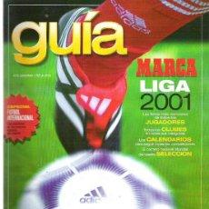 Coleccionismo deportivo: GUIA DE LA LIGA MARCA 2001 **. Lote 19115436