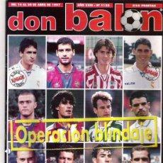 Coleccionismo deportivo: DON BALON Nº 1122 LA JAPAN LEAGUE / ALFONSO POSTER / ENTREVISTA A GUARDIOLA **. Lote 19153138