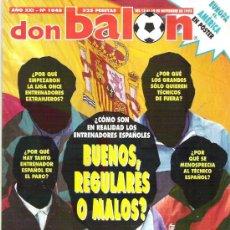 Coleccionismo deportivo: DON BALON Nº 1048 JOHANSSON / ESPECIAL 80 PAG / POSTER EUROPA CONTRA AMERICA. Lote 19229745