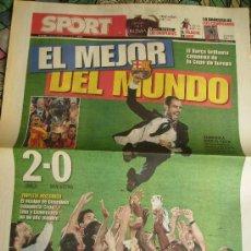 Coleccionismo deportivo: DIARIO SPORT. F.C.BARCELONA CAMPEÓN DE EUROPA. 2008-2009.. Lote 26760182