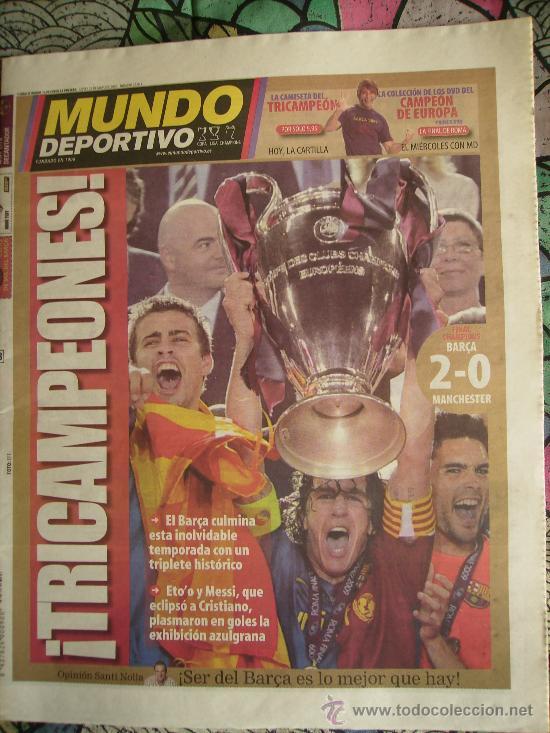 MUNDO DEPORTIVO. F.C.BARCELONA CAMPEÓN DE EUROPA. 2008-2009. (Coleccionismo Deportivo - Revistas y Periódicos - Mundo Deportivo)
