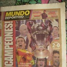 Coleccionismo deportivo: MUNDO DEPORTIVO. F.C.BARCELONA CAMPEÓN DE EUROPA. 2008-2009.. Lote 26760183