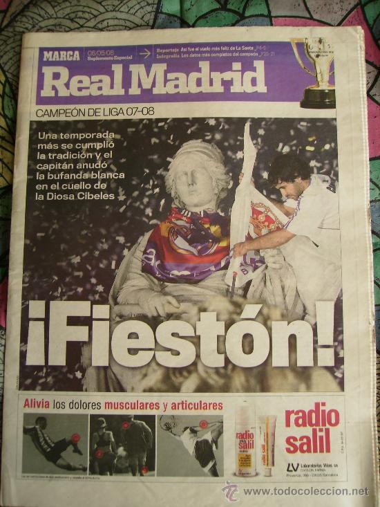 DIARIO MARCA. ESPECIAL REAL MADRID CAMPEÓN DE LIGA. 2007-2008. (Coleccionismo Deportivo - Revistas y Periódicos - Marca)