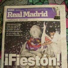 Coleccionismo deportivo: DIARIO MARCA. ESPECIAL REAL MADRID CAMPEÓN DE LIGA. 2007-2008. . Lote 26760186