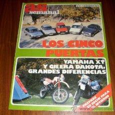 Coleccionismo deportivo: REVISTA AS SEMANAL : NUM. 98 DICIEMBRE 1987 - COCHES Y MOTOS. Lote 26264714