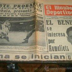 Coleccionismo deportivo: MUNDO DEPORTIVO(22-5-64) RAMALLETS,BARÇA,LUIS ROMERO(BOXEO). Lote 27183427