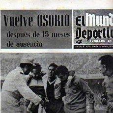 Coleccionismo deportivo: PERIDICO DEPORTIVO EL MUNDO DEPORTIVO 25-02-1970 . Lote 20092298