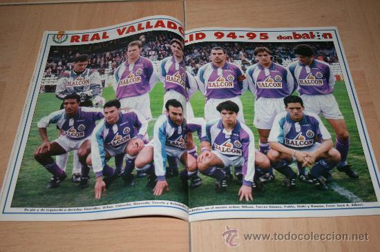 Coleccionismo deportivo: REVISTA DON BALÓN Nº1020 POSTER VALLADOLID TEMPORADA 94-95 - Foto 2 - 20388662