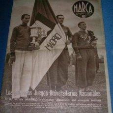 Coleccionismo deportivo: PERIODICO - MARCA - SEMANARIO GRÁFICO DE LOS DEPORTES - Nº 168 - ABRIL DE 1.942. Lote 26517359