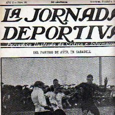 Coleccionismo deportivo: REVISTA DEPORTIVA LA JORNADA DEPORTIVA Nº 68 PARTIDO BARCELONA-SABADELL. Lote 20706296