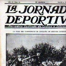 Coleccionismo deportivo: REVISTA DEPORTIVA LA JORNADA DEPORTIVA Nº42 FINAL CAMP. II CATEGORIA ATH SABADELL -ATH D. SAN FELIU. Lote 20706403
