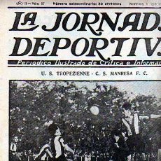 Coleccionismo deportivo: REVISTA DEPORTIVA LA JORNADA DEPORTIVA Nº 57 U.S. TROPIZIENNE C.S. MANRESA F.C.. Lote 20706503