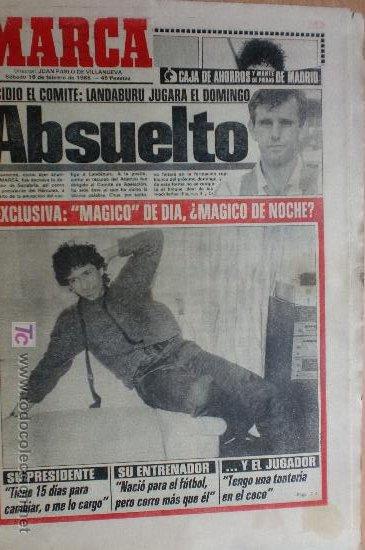 MARCA-1985-Nº13407-MAGICO DIAZ-NO COMPLETO (Coleccionismo Deportivo - Revistas y Periódicos - Marca)