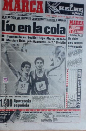 MARCA-1985-Nº13421-MESTALLA 2-5,FESTIVAL AZULGRANA- (Coleccionismo Deportivo - Revistas y Periódicos - Marca)