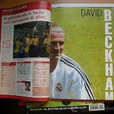 Coleccionismo deportivo: DON BALON NUMERO 1447 CON POSTER GIGANTE DE DAVID BECKHAM. Lote 26786130